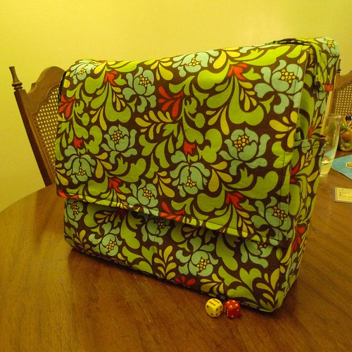 Diaper bag front flap (with magnetic snaps)
