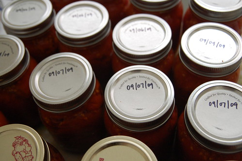 Jars of Canned Tomatoes