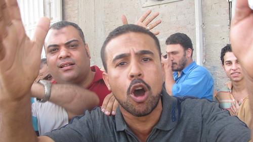 اعتصام عمال مصنع ابوالسباع فى المحلة  by you.