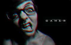 Gamer Review. (Explored!) (ElizabethGrace) Tags: white black face movie crazy eyes sweet review ring gamer butler stupid ridiculous concept gerard septum