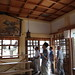 """瓦製狛犬と絵馬「橋弁慶」 The Tile Guardian Dogs and Ema of """"Hashi-benkei"""", Oshima-Hachimansha"""