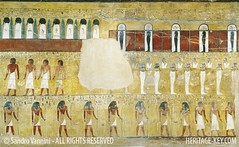 Seti I Tomb (KV17) showing The Bark of the Sun God (Sandro Vannini) Tags: wall ancient tomb paintings egypt pharaoh valleyofthekings hieroglyphics egyptians newkingdom 19thdynasty setii bookofgates rehorakhty heritagekey sandrovannini giovannibattistabelzoni heritagesite1222 morningsungod firstpillaredhall