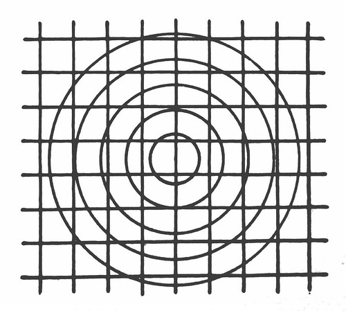 Combined centric - or Concentric - and Cartesian grid systems