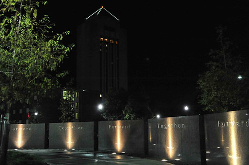 Cole Hall Memorial at Night (NIU)