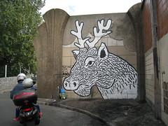 Zoo Project (tofz4u) Tags: streetart paris vespa helmet scooter streeart cerf casque artderue 75020 explored zooproject