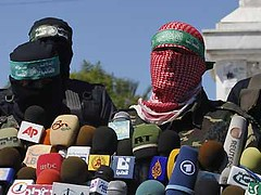 Hamas Cowards - hide behind masks like they hide behind children (Uzi-DoesIt) Tags: terrorist terrorists masked gaza gilad cowards hamas murderers shalit