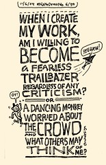 NaNoDrawMo 2009 - 6/50 - Trailblazer or Dancing Monkey?