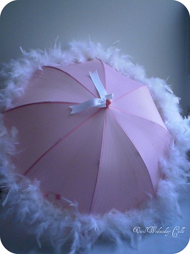 Feathered parasol