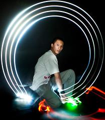 Light Tunnel (Ben Canales) Tags: longexposure light lightpainting portland lights dance neon glow dancer breakdance breakdancing bboy breakdancer bgirl strobist bencanales