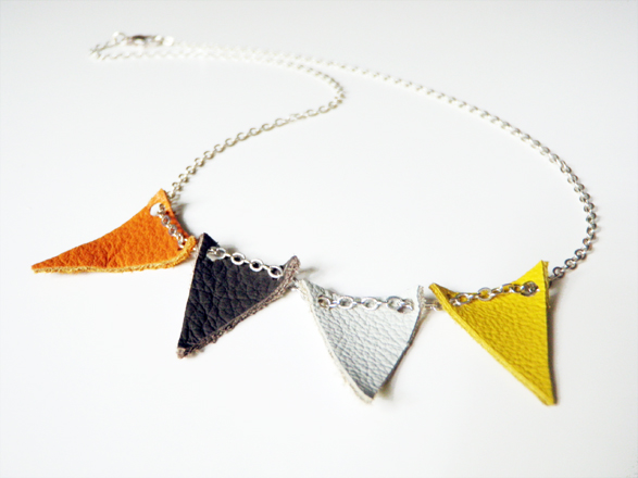 DIY bunting necklace