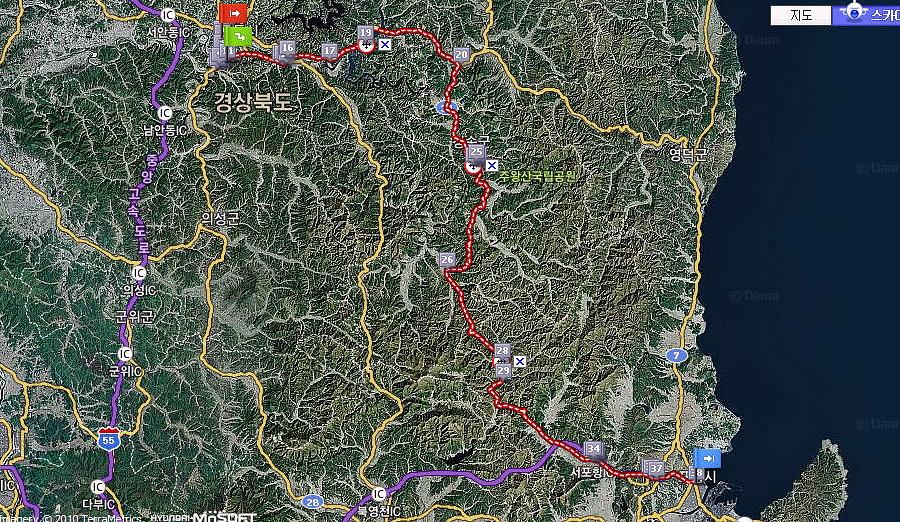 Map (Andong-Pohang)