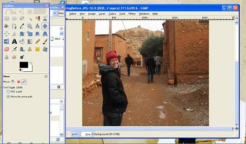 Village in Morocco GIMP tutorial by Danalynn C