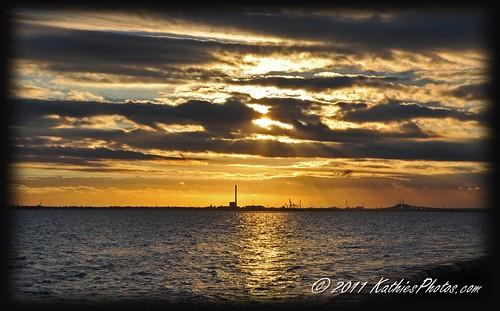 Sunset with Williamstown on the horizon