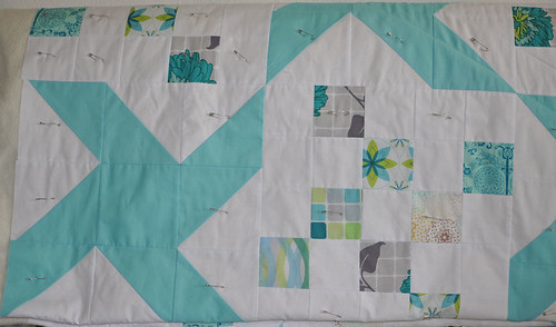 full swing quilt, basted