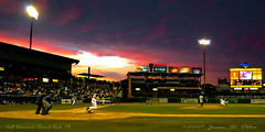 Sunset at Dell Diamond Pano (50%ChanceofRain) Tags: texas roundrock delldiamond roundrockexpress getrdun jasonstpeter mjsphotography 50chanceofrain