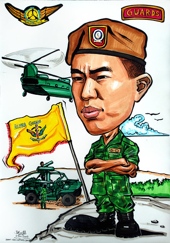 Caricature for Singapore Armed Forces