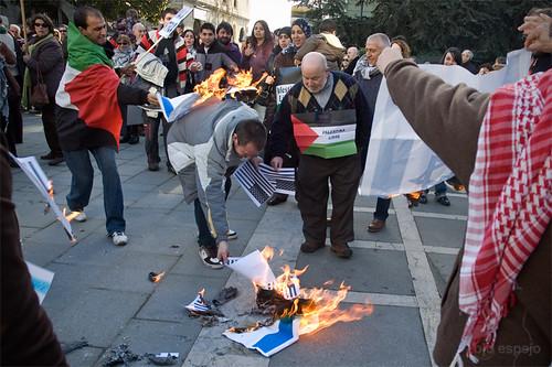 Manifestación por Gaza en Santander