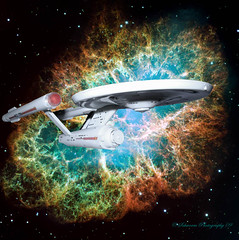 NCC-1701 (jake7474505b_1999 ( the Coroner )) Tags: startrek enterprise crabnebula polarlights modelship generoddenberry