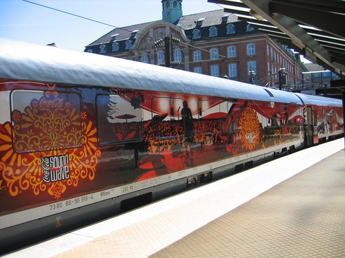 Train Chartering - Soundwave Express, a branded and themed train, in Copenhagen