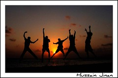 Jubilation of the Smell of Victory (Prof EuLOGist) Tags: sunset jump group junaid hassan maldives issey nai facebook jinan hussain vilingili anawesomeshot nadey shuhaad rahtehin