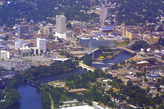 South Bend, Indiana (Flightline Aviation Media) Tags: city photo inflight stock indiana southbend bruceleibowitz
