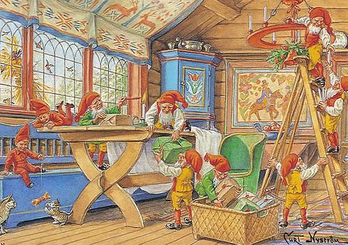 Christmas postcard - Sweden