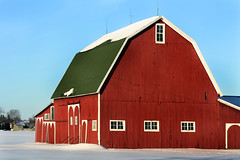 RGB Barn (thisisbrianfisher) Tags: blue red green window field barn michigan farm brian shed scene fisher rgb saline bfish brianfisher thisisbrianfisher