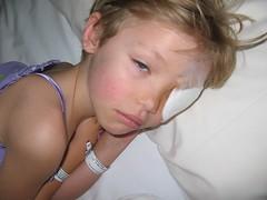 Post-op (oakalyptus) Tags: girl hospital bandages dozy