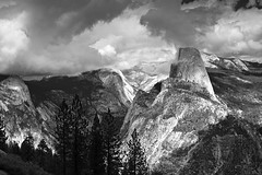 Yosemite - Storm Over Half Dome.jpg (YOSEMITEDONN) Tags: mountains yosemitehalfdomecloudsstormblackwhite