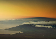 view from Haleakala (lindilindi) Tags: melindapodor hawaii tropical copyrighted allrightsreserved maui haleakala sunrise mountain volcano sky island gettyinvited hawaiiset mauiset sunsetsset ga sunset sun