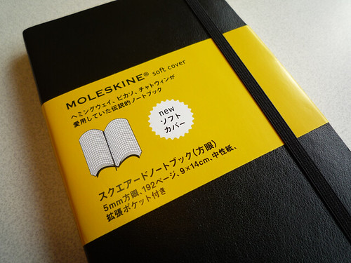 MOLESKINE Squared Notebook, Soft Cover, Black
