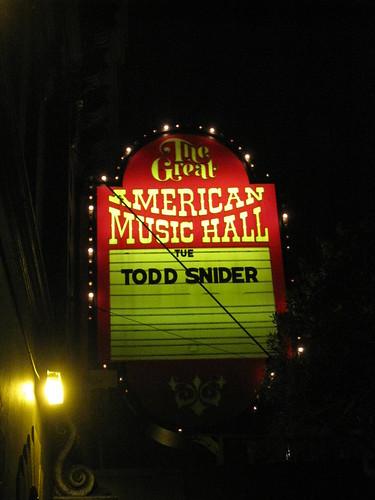 41/365: Todd Snider in SF
