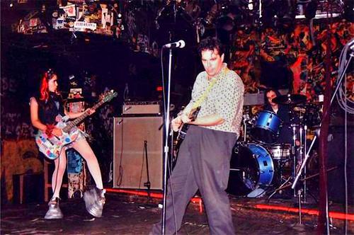 Onstage at CBGB