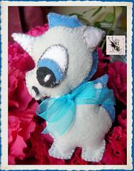 Bebe Unicornio (Cristhy en la Luna) Tags: animal lazo broche brooch felt bebe organza abalorios unicornio fieltro