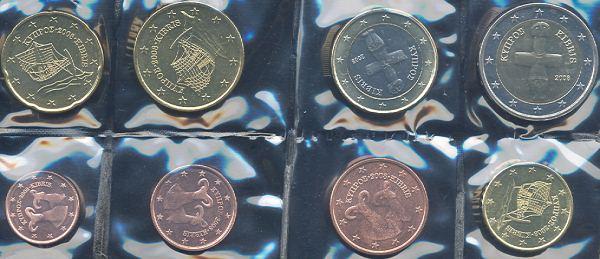 Sada euro mincí Cyprus 2008