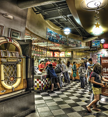 hdr to go (Kris Kros) Tags: food white fish black classic chicken coffee kids photoshop french photography lights star restaurant parents high nikon order dynamic cola drink chocolate burger go fast diner coke mama mcdonalds tiles fries icecream meal kris shake and papa to jukebox inside soda cocacola nuggets range coca choco hdr hazelnut kkg softdrink mcdo combo mccafe fillet d300 chequered photomatix kros kriskros 5xp mywinners kidsparents espressp kkgallery
