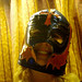 So I bought this Mexican wrestler's mask in Cozumel.