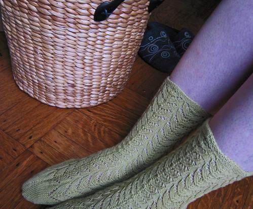 Green Lace Socks 10