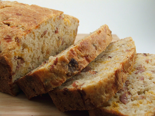 Bacon Cheddar Bread Sliced