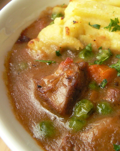 Lamb Stew as Shepherd's Pie