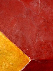 SMA wall detail #15 (msdonnalee) Tags: red muro rot wall rouge pared rojo architecturaldetail  vermelho explore mura minimalismo mur rosso parede yellowandred mauer abstrakt  abstrait rd punainen   walldetail minimalisme abstractreality minimalismus walltexture   ifyouseeredshootit  artlegacy mexicanwall   donnacleveland abstratto photosbydonnacleveland murodemxico