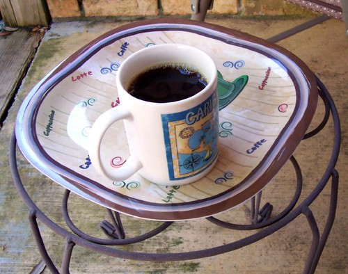 Coffee tray on table