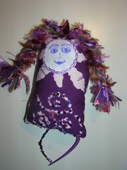 purple dotee (ukstash) Tags: beads purple doodled swapbot dotee