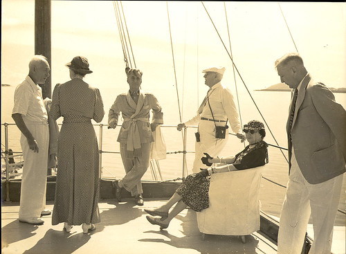 Party aboard the Casiana, President Quezon's Yacht
