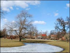 Parks pavasarī (Bargais) Tags: park trees sky ice nature water spring parks latvia koki latvija pavasaris kuldiga daba ledus kuldīga debesis ūdens