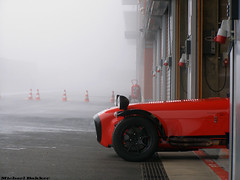 Caterham Superlight R400 (Michael Bakker) Tags: auto mist cars car fog race 22 march photo amazing cool nice fantastic track day belgium awesome foggy fast olympus racing exotic gt circuit spa 2009 supercar coches caterham sportscar trackday mistig uz francorchamps superlight spafrancorchamps sp510 r400