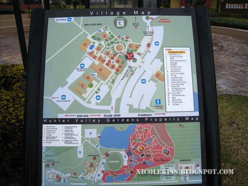 hunter valley village map
