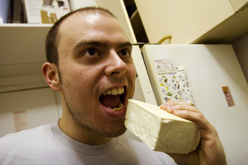 colin + block of tofu