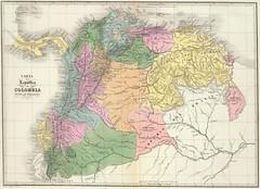 Repblica de Gran Colombia (1824) (thejourney1972 (South America addicted)) Tags: southamerica del america ecuador amrica colombia do map venezuela south sur gran mapa panam sul sudamerica suramerica
