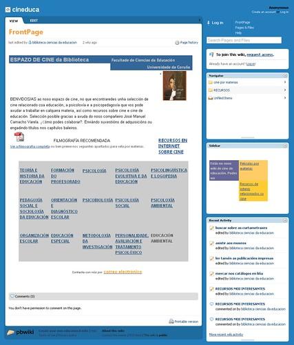 Cineduca el wiki de la biblioteca de ciencia de la educacion de la udc